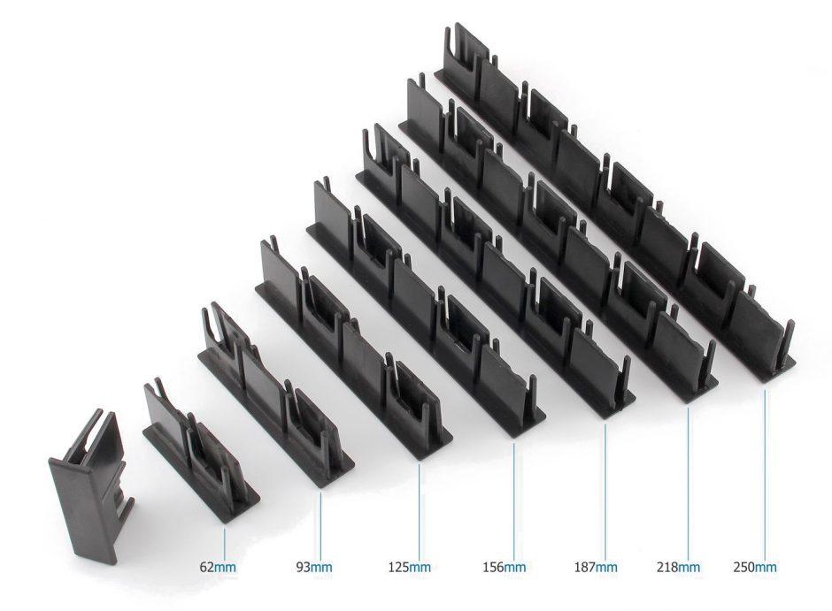 AluSign Indoor rendszer kétoldalas záróvégei