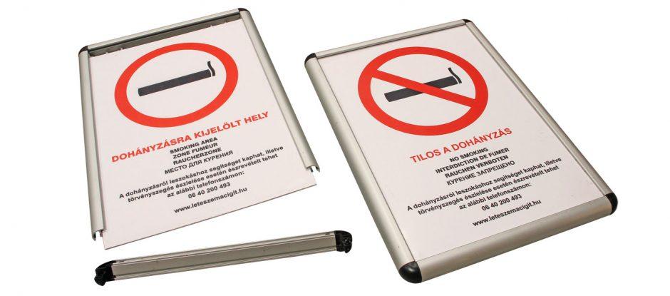 AluSign Indoor fém oldalzáró használata keretként