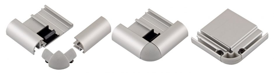AluSign Indoor íves fém oldalzáró és alsó/felső élzáró
