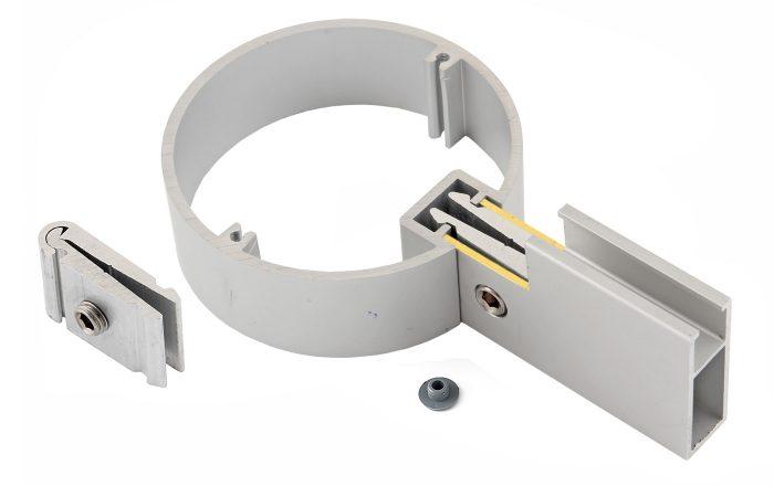 AluSign Outdoor körmös, csavaros tábla rögzítő